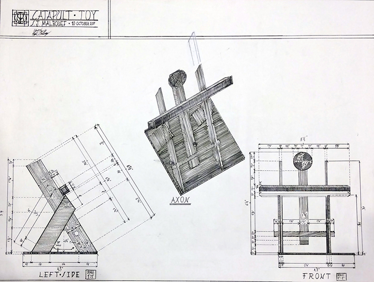 Blueprints of a toy