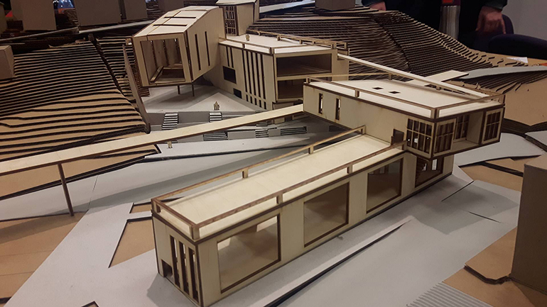 Model of a library.