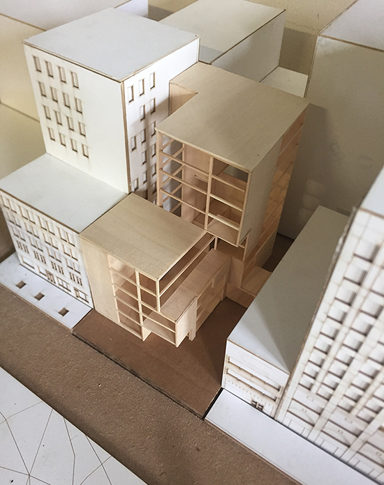 Model of a building project.