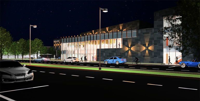 Rendering of a theater